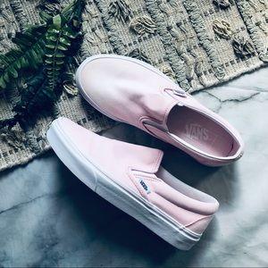 Vans Ballerina Pink Slip On Sneakers (8.5)